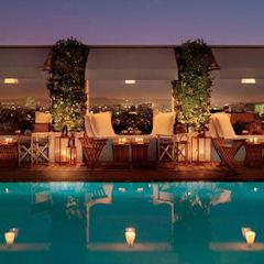 Skybar Pool at Mondrian Hotel LA