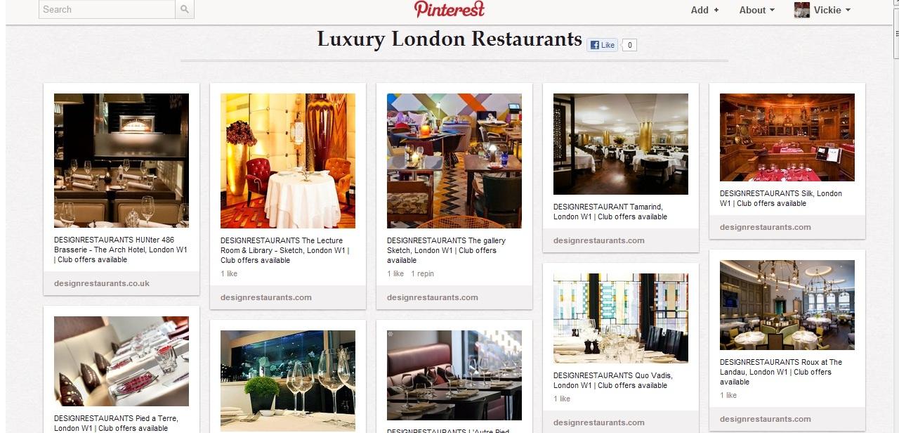 Design Restaurant Pinterest Board