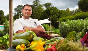 Phil Yeoman in Lainston's Kitchen Garden