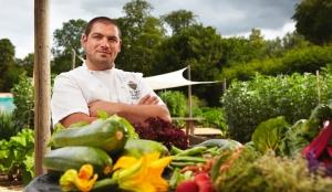 Phil Yeoman in Lainston's Kitchen Garden
