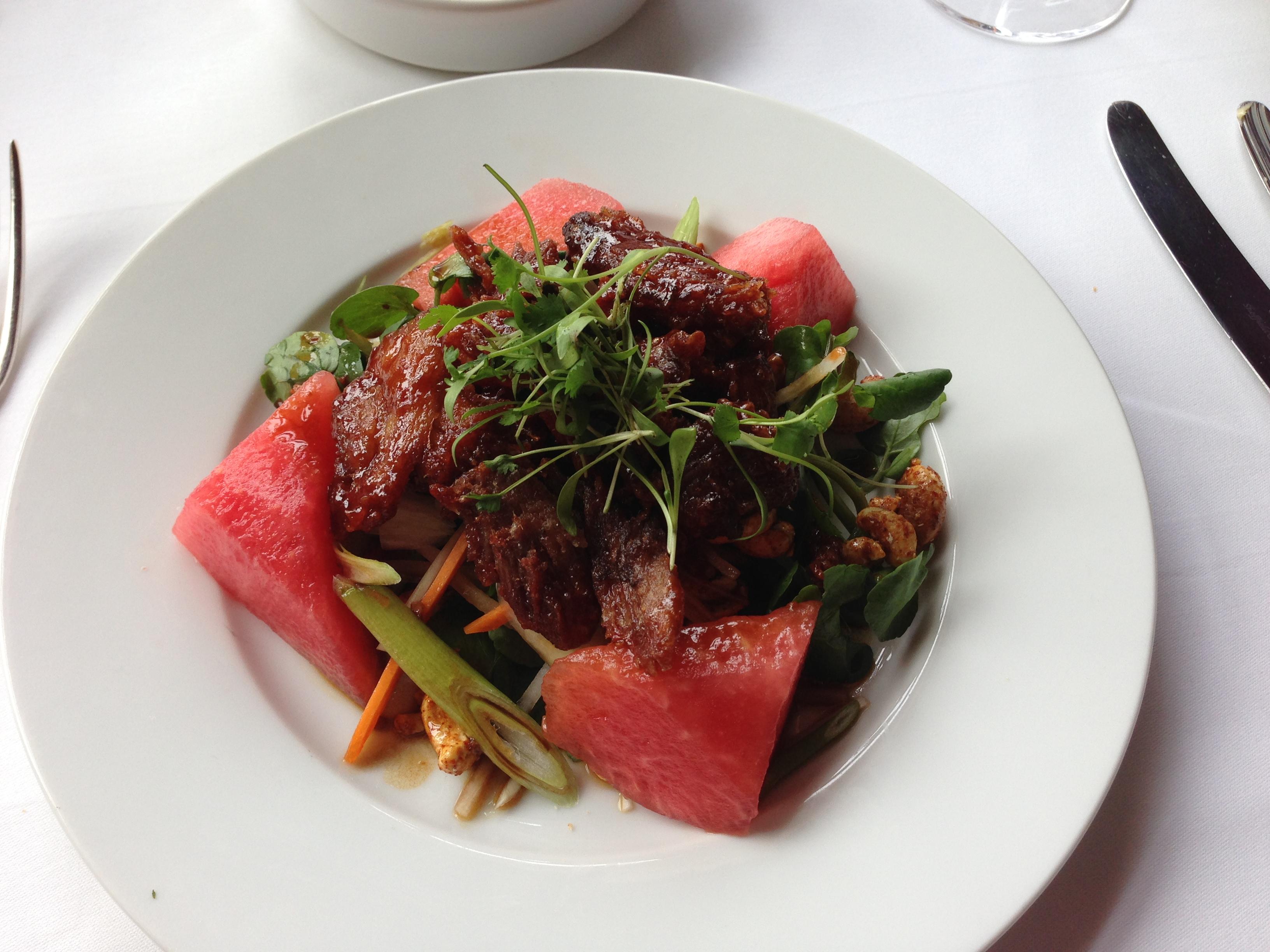 Crispy Pork And Watermelon Salad Recipe — Dishmaps