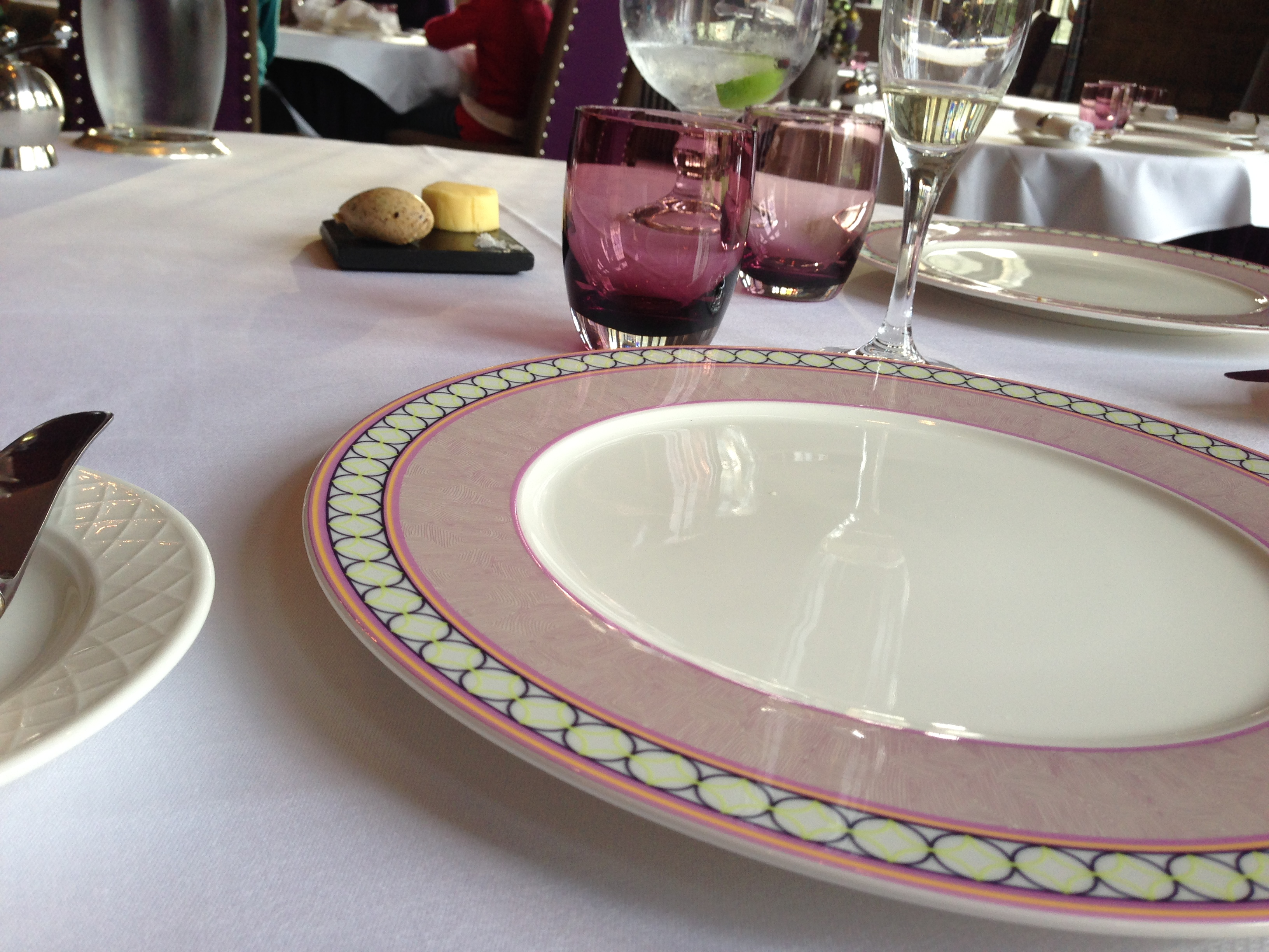 Simple restaurant table setting - Richard Davies And His Team In The Bybrook Restaurant Have Retained Their Michelin Star Since 2009 And It Is One Of Only Three Properties In The County To