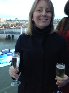 Champagne on London Eye