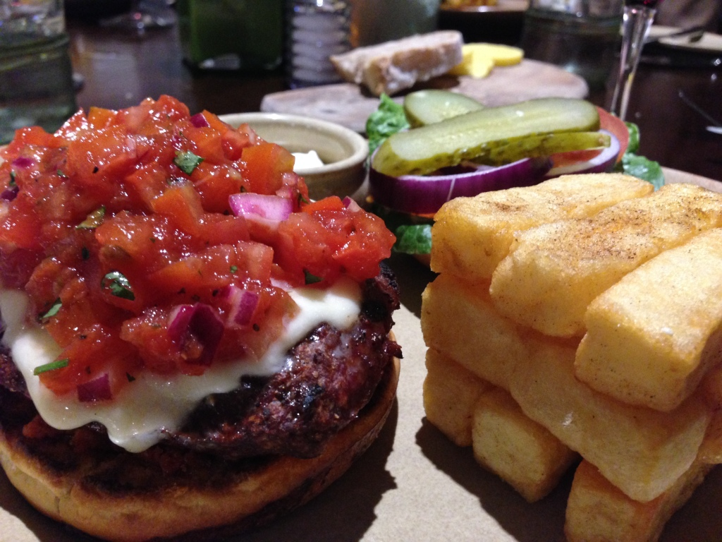Beef and Chorizo Burger