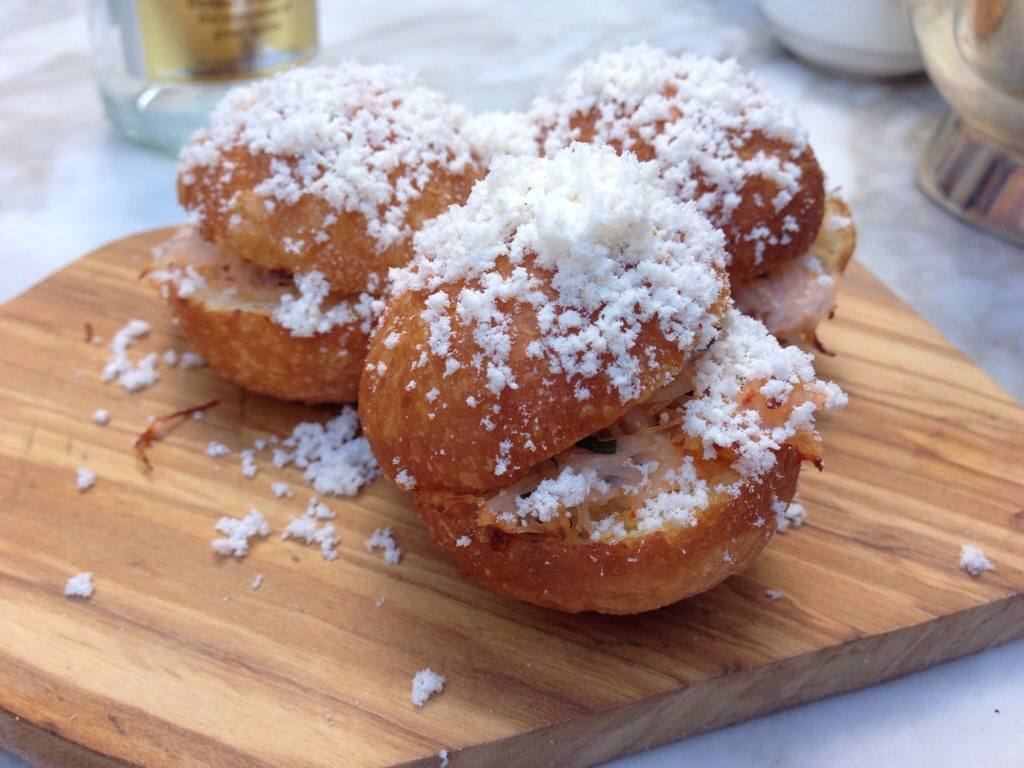 Crab Doughnuts at Chiltern Firehouse