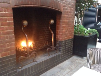 Chiltern Firehouse Fireplace Terrace