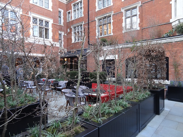 Terrace at Chiltern Firehouse