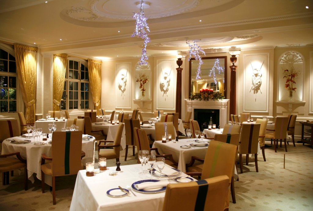 The Goring Dining Room at night