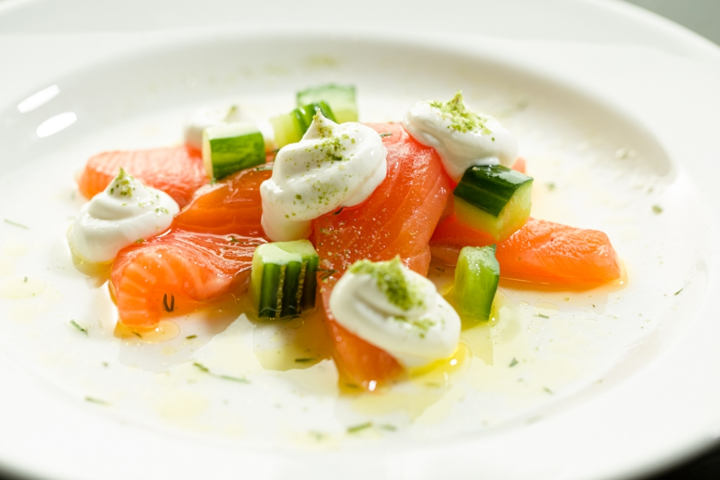 Nathan Outlaw Seaweed and cider cured salmon