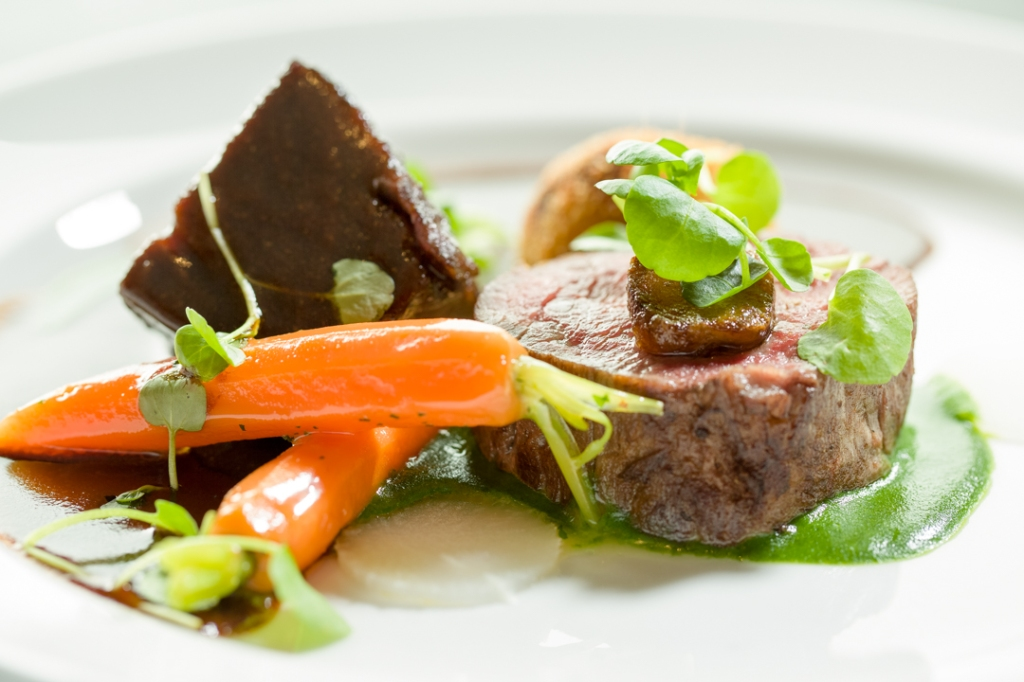 Simon Hulstones Fillet and cheek of beef