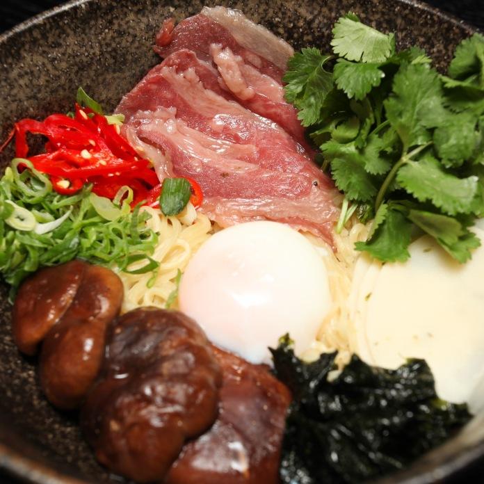 M Restaurants Waygu Brisket and Wasabi Ramen