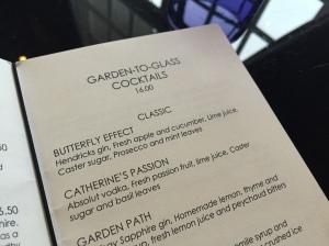 Four Seasons Cocktails Menu