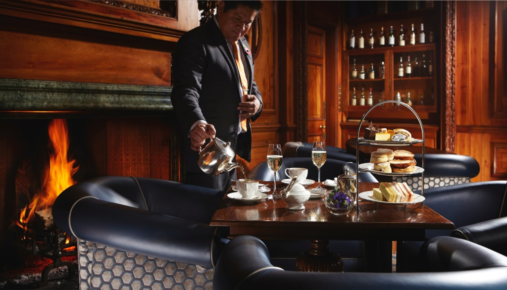 Lainston House Hotel Cedar Bar Afternoon Tea