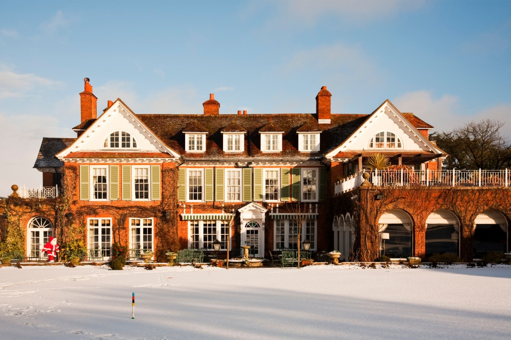 Chewton Glen visited by Santa