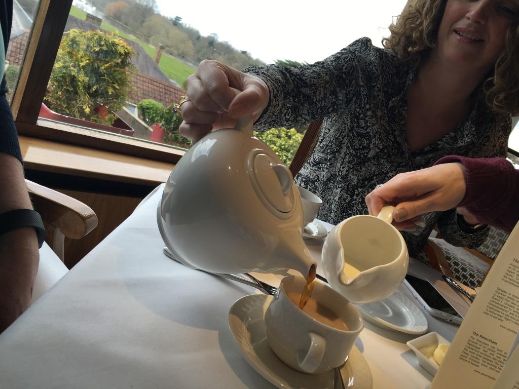 Breakfast tea at The Petersham Hotel