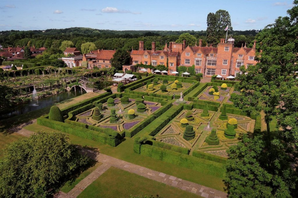 Great Fosters aerial view