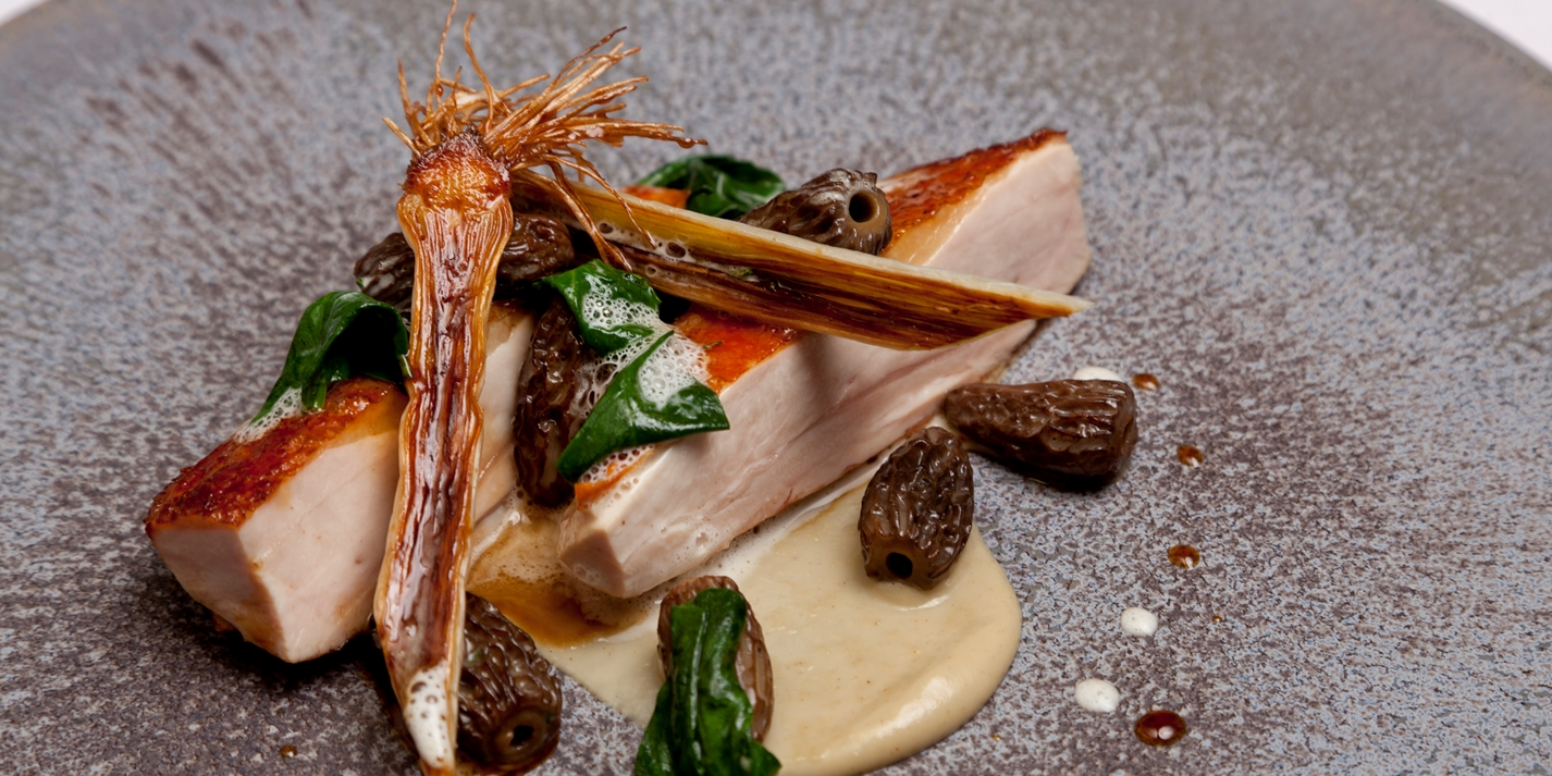 Chefs Recipe – Guinea fowl with liquorice braised leeks by Marcus ...