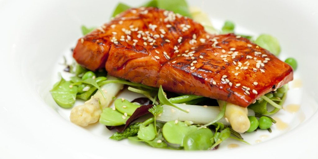 Maple Glazed Salmon by Wililam Drabble