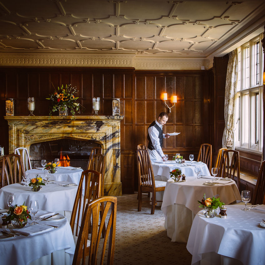 Gravetye manor dining room spring