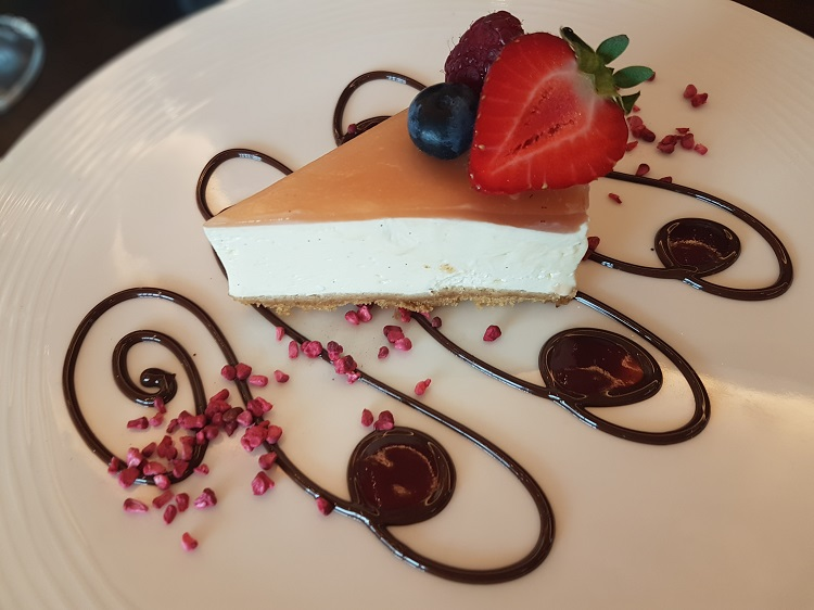 Bourbon and White Chocolate Cheesecake by Adam Potten
