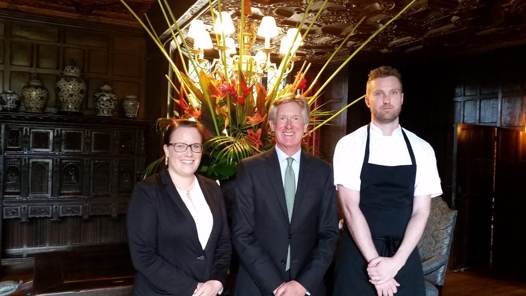 Restaurant Manager - Jenny Schlichting , Managing Director - Richard Young, Douglas Balish - Head Chef