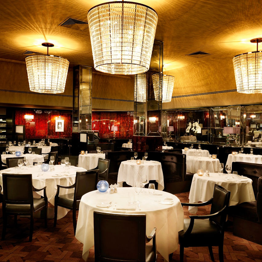 Interior at The Savoy Grill