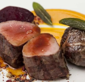 Marcus venison-squash-puree-and-beetroot-granola recipe