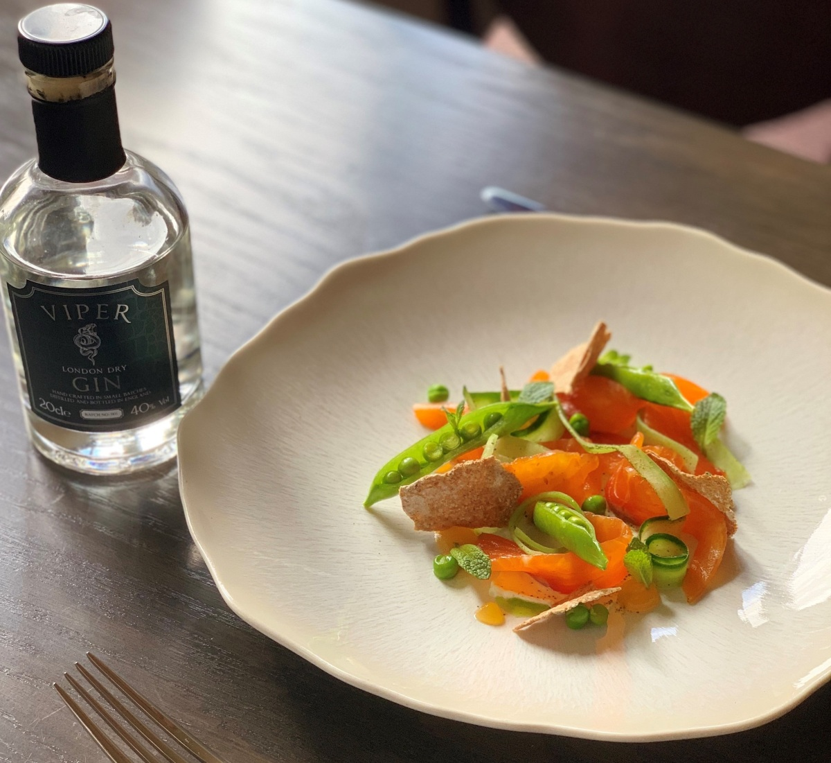 Chef's Recipe: Viper Gin Cured Trout with a Horseradish Crème Fraiche & Rye Crisps