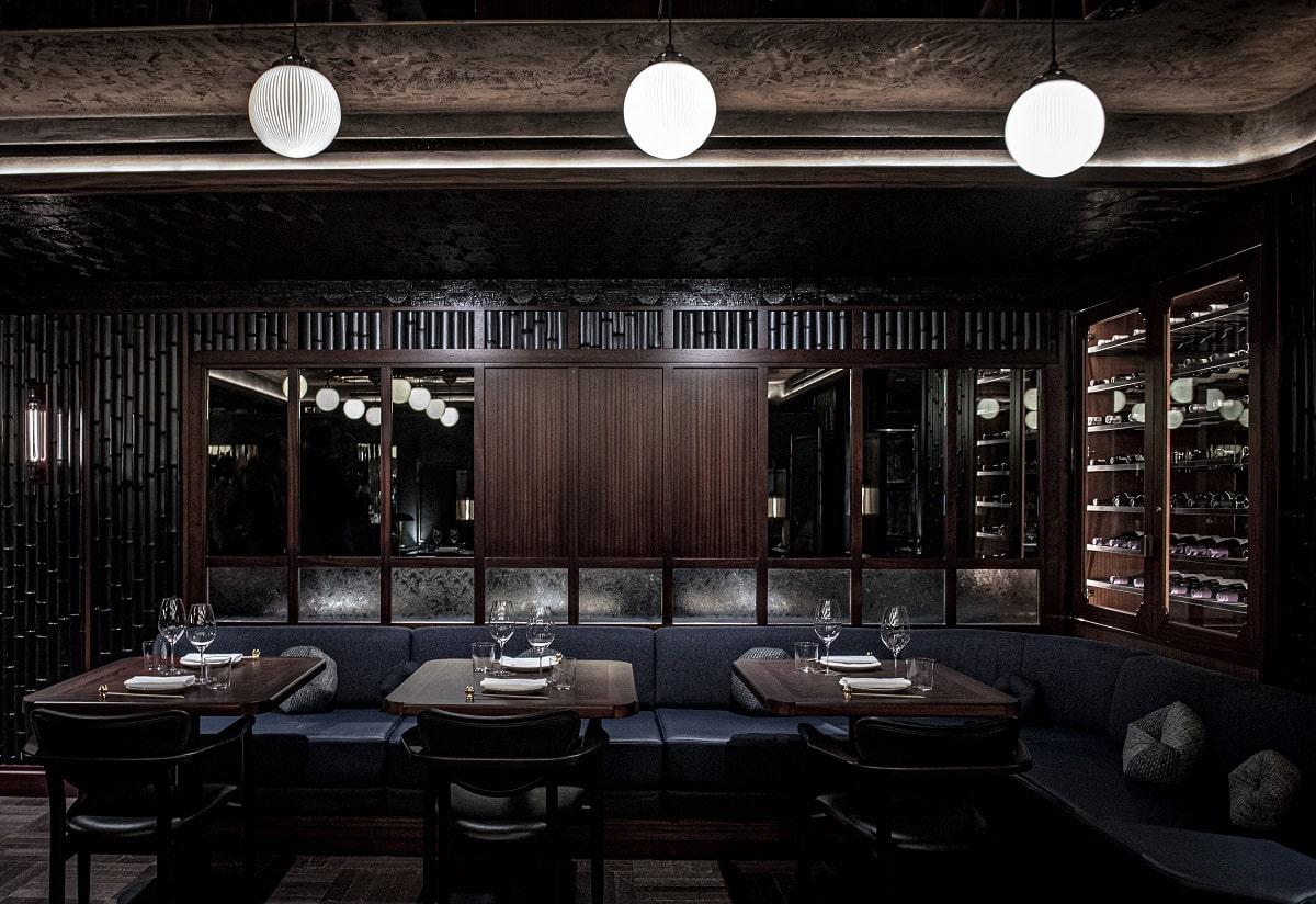 Lucky Cat Interior details tables in restaurant -min